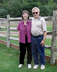 A picture of Bob and Sue Sweetman
